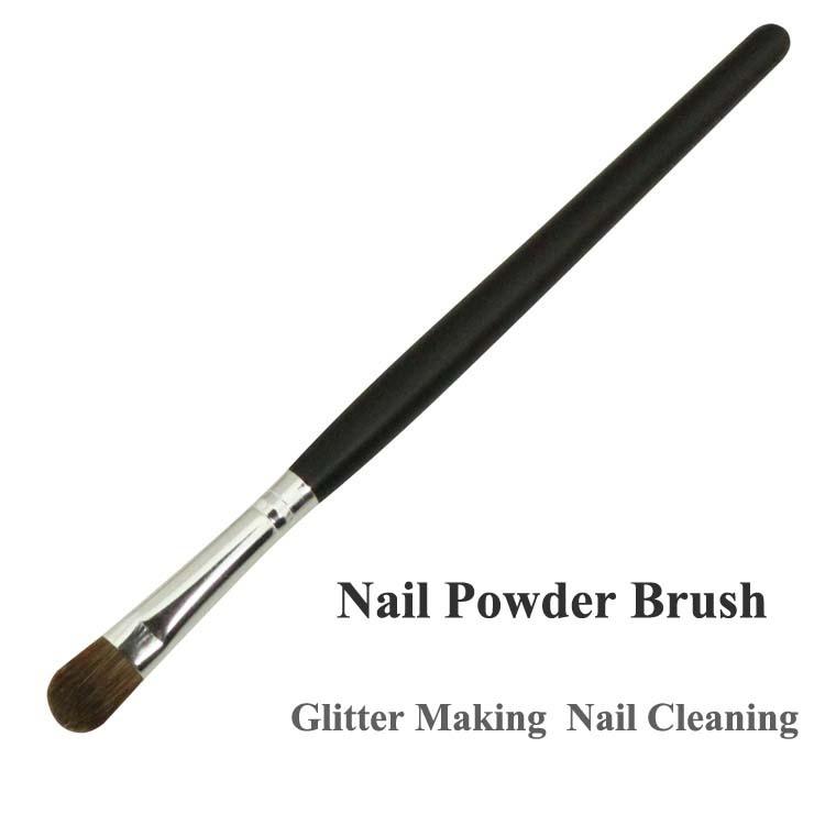 Little Glitter Powder Brush Nail Cleaning Brush Flush Nail Making Dust