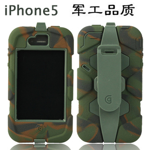 10pcs/lot High quality newest style Waterproof Dirtproof ShockProof silicone Survivor case for iphone5 Free Shipping(China (Mainland))