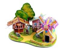 Free shipping ZILIPOO 3D Puzzle Building Model Toy/Wind farm, Children's Safe Non-toxic Foam+Paper Model DIY Jigsaw 362
