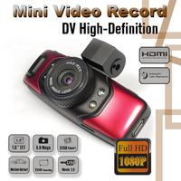Free Shipping !! Full HD 1080P Car DVR Camera Night Vision IR Vehicle Dashboard Red Built GPS G-Sensor GS5000