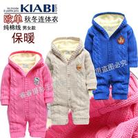 Female child romper cotton thread  baby romper newborn clothes and climb jumpsuit autumn and winter children's