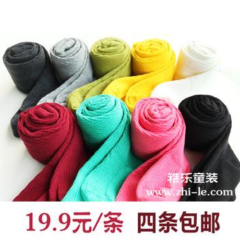 2012 autumn baby children's clothing female child 100% cotton pantyhose step foot socks legging ball