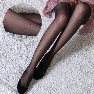 Summer love 2013 ultra-thin stockings pantyhose female Core-spun Yarn polka dot legging bow invisible socks