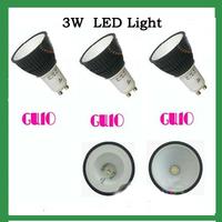 1*3W  GU10  WARM  White LED Lamp Light Bulb 220V 110V(AC85-265V)black housing new 10pcs/lot