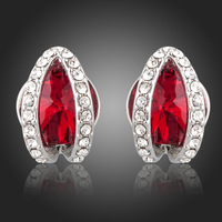 E372 Wholesale 925 silver earrings, 925 silver fashion jewelry, Austrian Crystal 8k, Plated Gold  Women ,zircon,