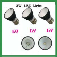1*3W E27  day  White LED Lamp Light Bulb 220V 110V(AC85-265V)black housing new 10pcs/lot