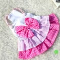 Free shipping! Sping lovely pink soft dog clothes Dress dog apparel Dog costume pet products hot selling products(China (Mainland))