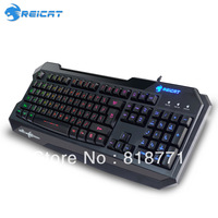 Reicat leopard Waterproof  & Rainbow Colorful backlit keyboard Ergonomic USB Wired Gaming keyboard free shipping dropshipping
