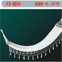 Outdoor white tassel hammock outdoor