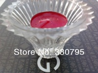 Candlestick * * * sweet romantic valentine's day flowers form transparent glass rod wax tea candle and candlestick