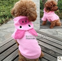 050686 Free shipping dog coat for winter autumn pink pig  pets clothes