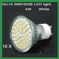 Free Shipping 220V GU10 4W SMD 60 LED LED BULB LIGHTS/LAMP Warm /Cool White LED BULB LIGHTS LAMP 10pcs/lot