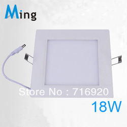 Ultra thin design 18W LED ceiling recessed grid downlight / square panel light 225mm, 1pc/lot free shipping(China (Mainland))