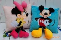 2 pcs/lot Free shipping Mickey Cushion / minnie lovely pillow,cute fashion cartoon pillow ( 2 colors )