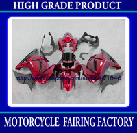 Customize race fairing for Kawasaki Ninja ZX 250R 2008-2011 ZX250 08 09 10 11 ABS red/black bodywork fairing kit