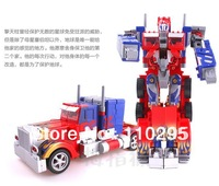 New truck robot toy Optimus prime autobots model car children birthday gift sounding/flash free shipping wholesale