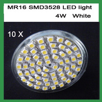 Free Shipping 12V MR16 4W SMD 60 LED White LED BULB LIGHTS/LAMP Warm /Cool White LED BULB LIGHTS LAMP 10pcs/lot