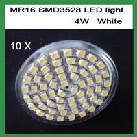 Free Shipping 12V MR16 4W SMD 60 LED White LED BULB LIGHTS/LAMP Warm /Cool White LED BULB LIGHTS LAMP 10pcs/lot