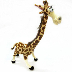 "14"" Cute Lovely Long Neck Giraffe Stuffed Plush Toy Doll Madagascar 3 For Kids(China (Mainland))"