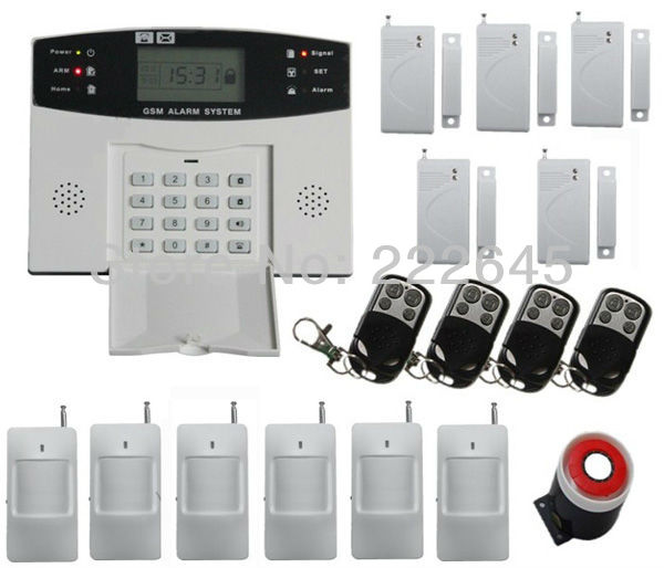 Home Alarm System -GSM SMS Security & Burglar Alarms System Ademco Honeywell Keypads(China (Mainland))
