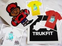 Free shipping Trukfit mens round neck t shirt fashion O-neck tshirt 10 colors