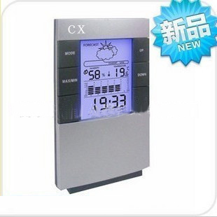 Multifunctional electronic digital high accuracy temperature and humidity meter back light clock alarm clock(China (Mainland))