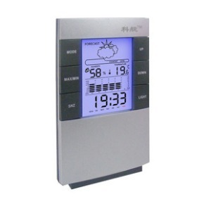 Indoor weather station electronic temperature and humidity meter high accuracy table household digital thermometer belt luminous(China (Mainland))
