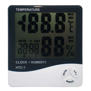 Big screen thermometer desktop electronic hygrometer alarm clock dual(China (Mainland))