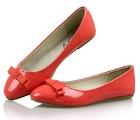 2013 spring and autumn candy color  bow women's flat shoes  ballerina shoes