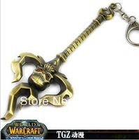 HOT SELL Surrounding the DOTA game  The mage  Ghost fork staves  ALLOY 14CM Key Chain