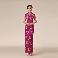 New arrival 2014 traditional chinese dress design cheongsam wedding dress for the wedding evening free shipping