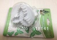 Min order $15 (mix order) 2pcs/set Three Leaf Holly Cake Decorating Plunger Cutter Fondant Mold DIY Tools free shipping