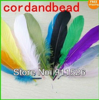 Free shipping!!200PCS DIY Feather Dyed Single 12-18cm Goose Feather #15Color