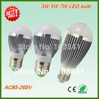 Free shipping wholesale 3W 5W 7W LED bulb Super quality 280-620lm led light bulb 2 years warranty 2pcs/lot led globe bulb