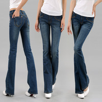Free shipping NEW womens jeans 2013 fashion Spring and Autumn stretch jeans Waist bell-bottoms
