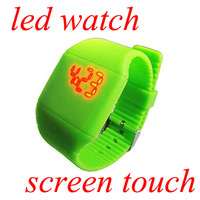 EVSHSB(147) Factory Price Fashion Unisex Rubber Led Touch Screen Watch Sports Gift Watch High Quality