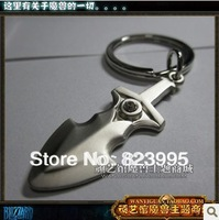 HOT SELL Surrounding the DOTA game Jump knife ALLOY 3.5CM Key Chain