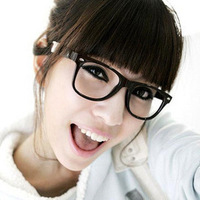 Meters color block decoration eyeglasses frame box plain mirror myopia Women all-match glasses