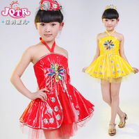 Infant dance clothes female child costume dress tulle modern performance wear