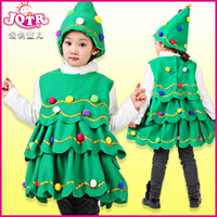 Child costume child christmas installation baby Christmas gift female child hat christmas tree on the child