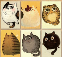 Kawaii Cat nostalgic postcards set/ Vintage Greeting Cards/ gift cards Vintage Korean Stationery wholesale