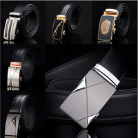 Free Shipping New Style Famous Design Genuine Leather Belt Men Belt/Strap FERR-AGAMO Men's Belt With Golden and Silver Buckle