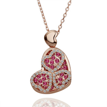 2014 Valentine's Day!High quality 18K gold Crystal fashion women drop necklace jewelry.Wholesale Fashion Jewelry N106