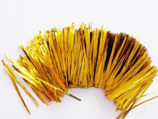 8cm belt metal candy box silk ligation bread cable ties tie-line gold 800 100 bag