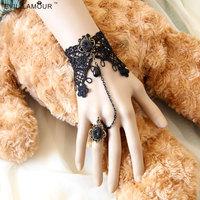 Wholesale vintage lace bracelets & bangles wrist jewelry handmade women accessories Gothic jewelry bracelets for women WS-125