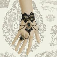 Wholesale DIY Gothic vintage black lace bracelets & bangles women accessories royal party jewelry bracelets bangles (WS-36)