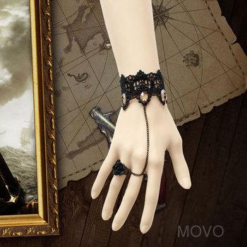 Wholesale Handmade Gothic black lace bracelets & bangles women accessories vintage charm bracelet for women (WS-176)