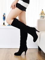 2013 Winter New Fashion Plus Velvet Women's Boots Nubuck Leather Knee-High High-heeled Boots