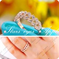 Exquisite vintage fashion rhinestone ring female fashion 18k rose gold ring