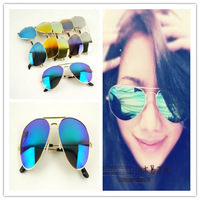 2013 Classic rb3025 large sunglasses sunglasses blue film red film green film reflective driving glasses  ray